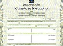 Certidão de Nascimento